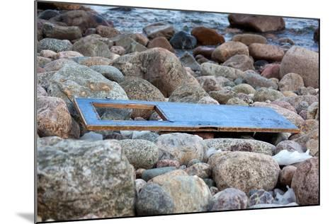 The Baltic Sea, R?gen, Flotsam on the Beach, Old Door-Catharina Lux-Mounted Photographic Print