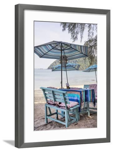 Piece of Furniture, Brightly, Runable Aground, Thailand, Beach-Andrea Haase-Framed Art Print