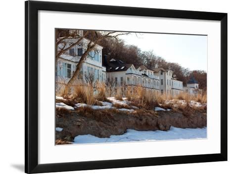 The Baltic Sea, RŸgen, Beach Promenade Binz, Winter-Catharina Lux-Framed Art Print