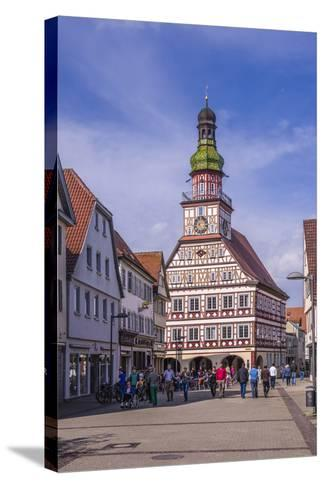Germany, Baden-Wurttemberg, Metropolregion Stuttgart, Kirchheim Unter Teck, City Hall-Udo Siebig-Stretched Canvas Print
