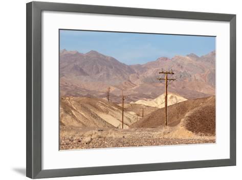 USA, Death Valley National Park, Power Poles-Catharina Lux-Framed Art Print
