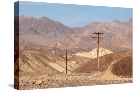 USA, Death Valley National Park, Power Poles-Catharina Lux-Stretched Canvas Print