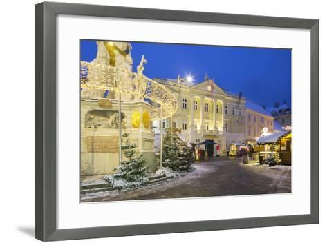 Plague Column, City Hall, Main Square, Baden Bei Wien, Lower Austria, Austria-Rainer Mirau-Framed Art Print