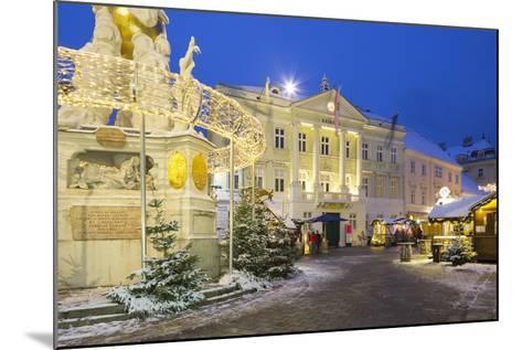 Plague Column, City Hall, Main Square, Baden Bei Wien, Lower Austria, Austria-Rainer Mirau-Mounted Photographic Print