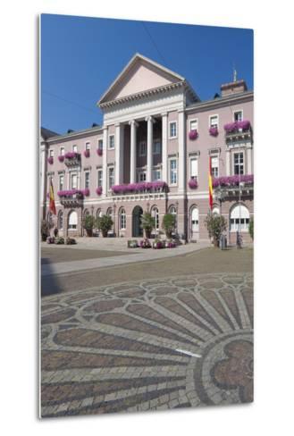 Germany, Baden-W?rttemberg, Karlsruhe, Marketplace, City Hall, Stone Mosaic-Chris Seba-Metal Print