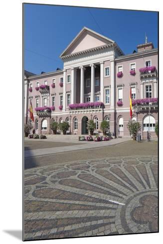 Germany, Baden-W?rttemberg, Karlsruhe, Marketplace, City Hall, Stone Mosaic-Chris Seba-Mounted Photographic Print