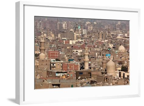 Egypt, Cairo, Citadel, View at Islamic Old Town-Catharina Lux-Framed Art Print