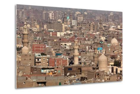 Egypt, Cairo, Citadel, View at Islamic Old Town-Catharina Lux-Metal Print