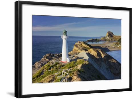 Castle Point Lighthouse, Wellington, North Island, New Zealand-Rainer Mirau-Framed Art Print