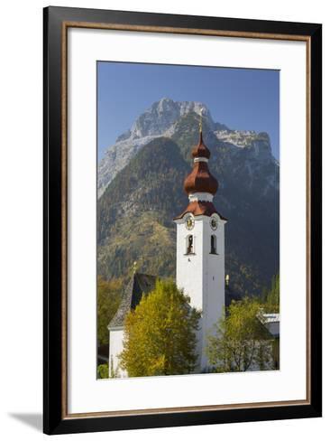 Church in Lofer, Lofer Mountains, Salzburg, Austria-Rainer Mirau-Framed Art Print