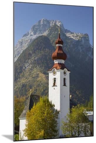 Church in Lofer, Lofer Mountains, Salzburg, Austria-Rainer Mirau-Mounted Photographic Print