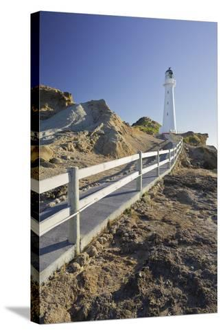 Castle Point Lighthouse, Wellington, North Island, New Zealand-Rainer Mirau-Stretched Canvas Print
