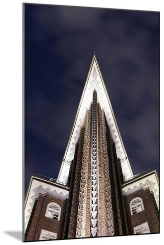 Chilehaus at Night, Architecture, Detail, Hamburg, Germany, Europe-Axel Schmies-Mounted Photographic Print