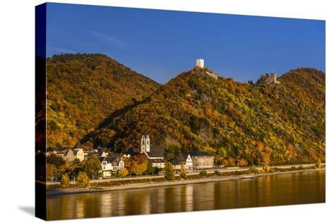 Germany, Rhineland-Palatinate, Upper Middle Rhine Valley, Kamp-Bornhofen, Townscape-Udo Siebig-Stretched Canvas Print