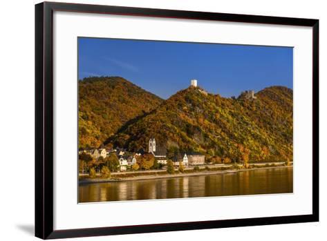 Germany, Rhineland-Palatinate, Upper Middle Rhine Valley, Kamp-Bornhofen, Townscape-Udo Siebig-Framed Art Print