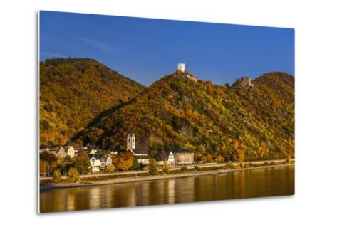 Germany, Rhineland-Palatinate, Upper Middle Rhine Valley, Kamp-Bornhofen, Townscape-Udo Siebig-Metal Print