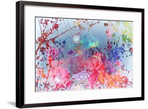 Colorful Floral Design with Knots-Alaya Gadeh-Framed Art Print