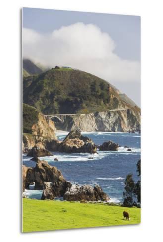 Rocky Point, Big Sur, Cabrillo Highway 1, California, Usa-Rainer Mirau-Metal Print