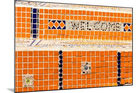 Cape Town, Exterior Wall, Mosaic, 'Welcome'-Catharina Lux-Mounted Photographic Print