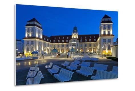 Europe, Germany, Mecklenburg-Western Pomerania, Baltic Sea Island R?gen, Binz, Kurhaus, Evening-Chris Seba-Metal Print