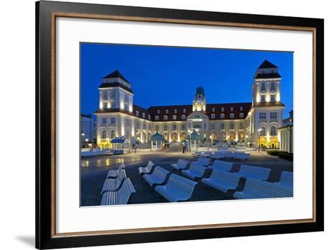 Europe, Germany, Mecklenburg-Western Pomerania, Baltic Sea Island R?gen, Binz, Kurhaus, Evening-Chris Seba-Framed Art Print