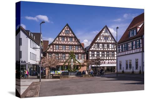 Germany, Baden-Wurttemberg, Metropolregion Stuttgart, Kirchheim Unter Teck, Marketplace-Udo Siebig-Stretched Canvas Print