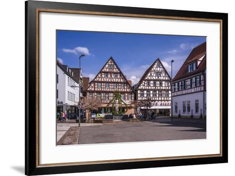 Germany, Baden-Wurttemberg, Metropolregion Stuttgart, Kirchheim Unter Teck, Marketplace-Udo Siebig-Framed Art Print