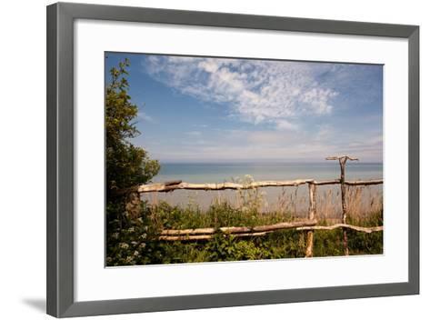 The Baltic Sea, R?gen, Coast, Fence-Catharina Lux-Framed Art Print