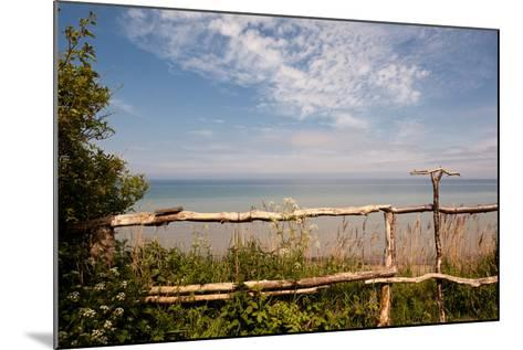 The Baltic Sea, R?gen, Coast, Fence-Catharina Lux-Mounted Photographic Print