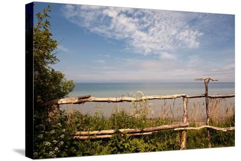The Baltic Sea, R?gen, Coast, Fence-Catharina Lux-Stretched Canvas Print