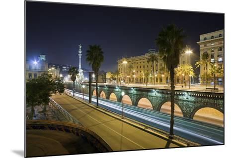 Spain, Catalonia, Barcelona, Ronda Del Litoral, Evening-Rainer Mirau-Mounted Photographic Print