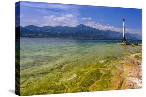 Italy, Veneto, Lake Garda, Torri Del Benaco, Lakeside Promenade-Udo Siebig-Stretched Canvas Print