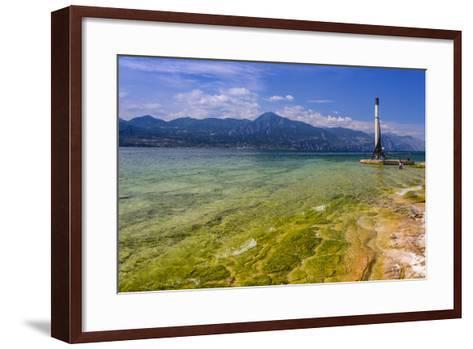Italy, Veneto, Lake Garda, Torri Del Benaco, Lakeside Promenade-Udo Siebig-Framed Art Print