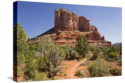 Courthouse Butte, Bell Rock Trail, Sedona, Arizona, Usa-Rainer Mirau-Stretched Canvas Print