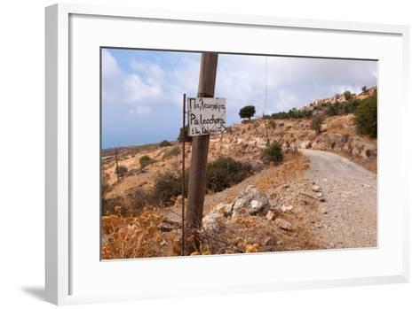 Greece, Crete, Omalos Plateau, Street to Paleochora-Catharina Lux-Framed Art Print