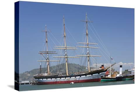 Sailing Ship T.S. Balclutha at Hyde Street Pier, San Francisco, California, Usa-Rainer Mirau-Stretched Canvas Print