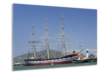 Sailing Ship T.S. Balclutha at Hyde Street Pier, San Francisco, California, Usa-Rainer Mirau-Metal Print