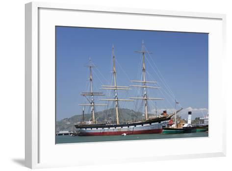 Sailing Ship T.S. Balclutha at Hyde Street Pier, San Francisco, California, Usa-Rainer Mirau-Framed Art Print