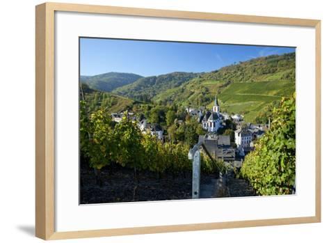 Germany, Rhineland-Palatinate, the Moselle, Traben-Trarbach, Catholic Parish Church St. Nicholas-Chris Seba-Framed Art Print