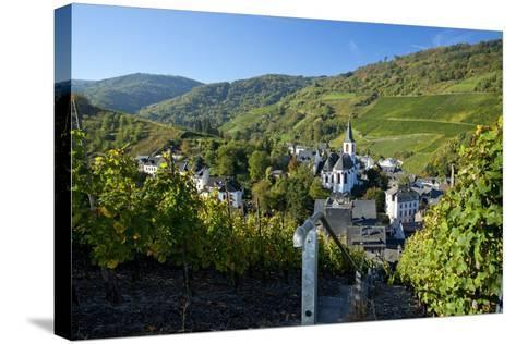 Germany, Rhineland-Palatinate, the Moselle, Traben-Trarbach, Catholic Parish Church St. Nicholas-Chris Seba-Stretched Canvas Print