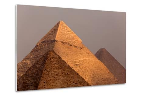 Egypt, Cairo, Pyramids of Giza-Catharina Lux-Metal Print