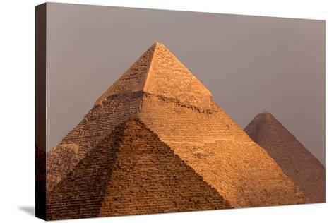 Egypt, Cairo, Pyramids of Giza-Catharina Lux-Stretched Canvas Print