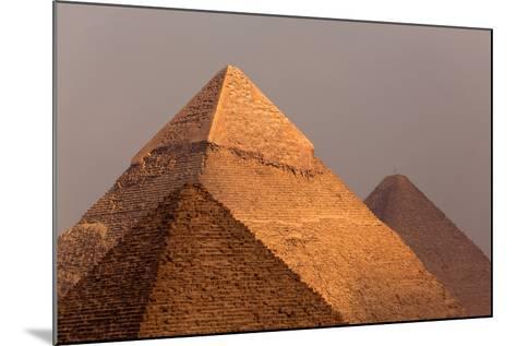 Egypt, Cairo, Pyramids of Giza-Catharina Lux-Mounted Photographic Print