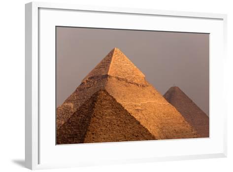 Egypt, Cairo, Pyramids of Giza-Catharina Lux-Framed Art Print