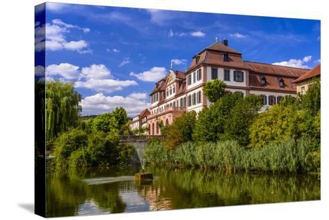 Germany, Bavaria, Lower Franconia, 'FrŠnkisches Saaletal' (Saale Valley), Hammelburg-Udo Siebig-Stretched Canvas Print