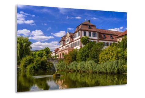 Germany, Bavaria, Lower Franconia, 'FrŠnkisches Saaletal' (Saale Valley), Hammelburg-Udo Siebig-Metal Print