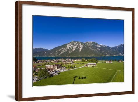 Austria, Tyrol, Achensee Region, Karwendel Mountains, Pertisau (Village-Udo Siebig-Framed Art Print