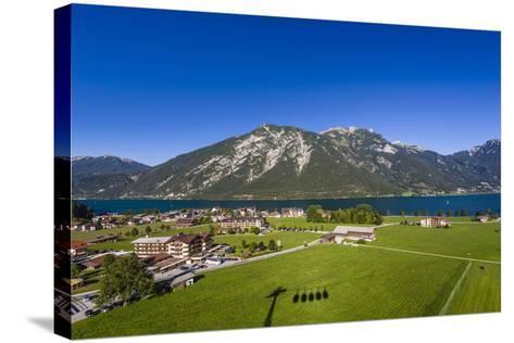 Austria, Tyrol, Achensee Region, Karwendel Mountains, Pertisau (Village-Udo Siebig-Stretched Canvas Print