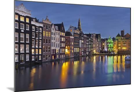Channel Houses Damrak, Steeple of 'Oude Kirk', Amsterdam, Netherlands-Rainer Mirau-Mounted Photographic Print