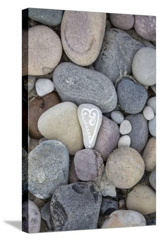 Painted Stone, Heart-Andrea Haase-Stretched Canvas Print